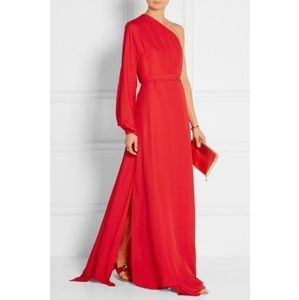 ROSETTA GETTY - Silk One-sleeve Wrap Gown